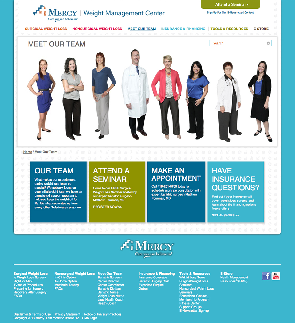 Mercy Weight Management Website | Meet the Team