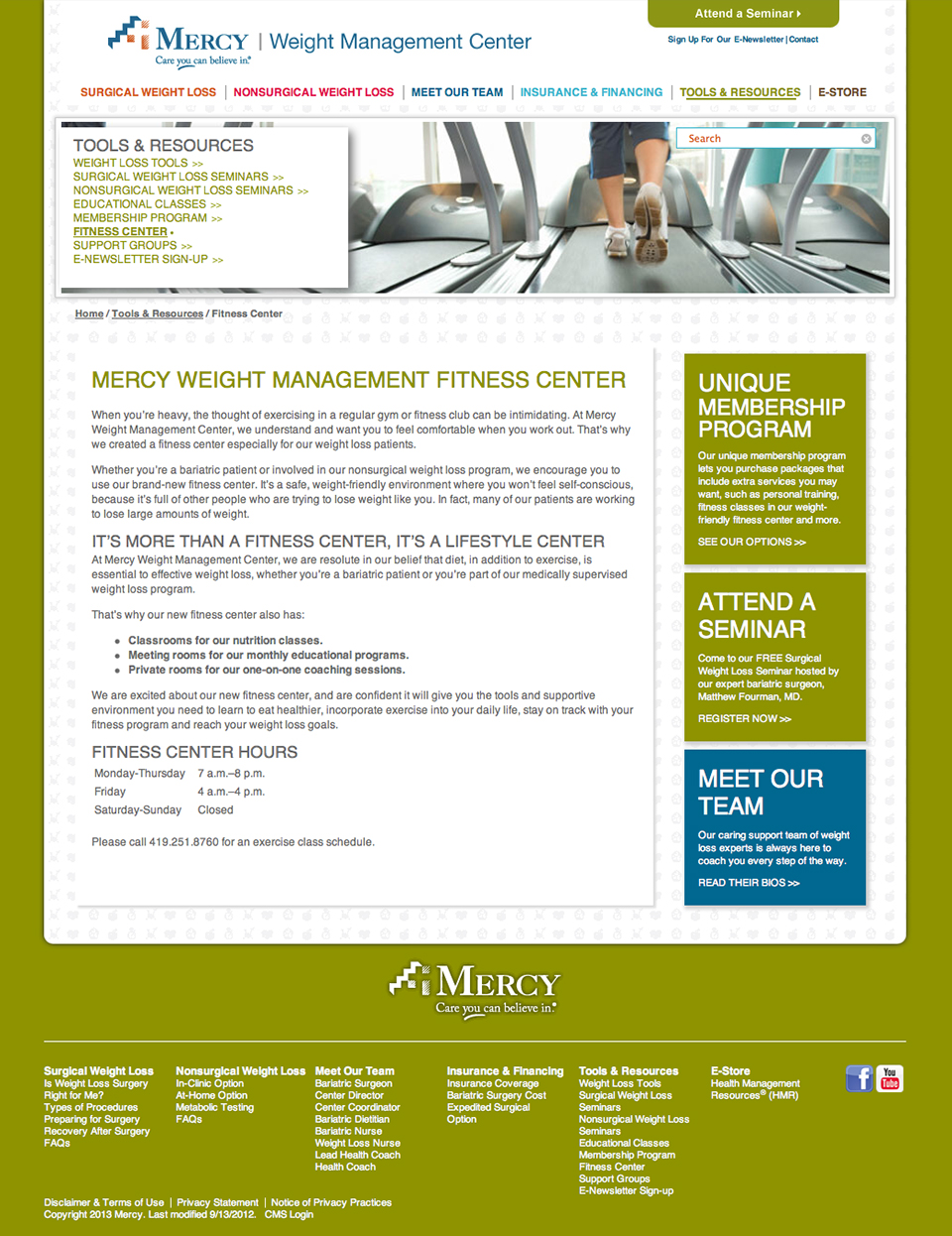 Mercy Weight Management Website | Tools & Resources