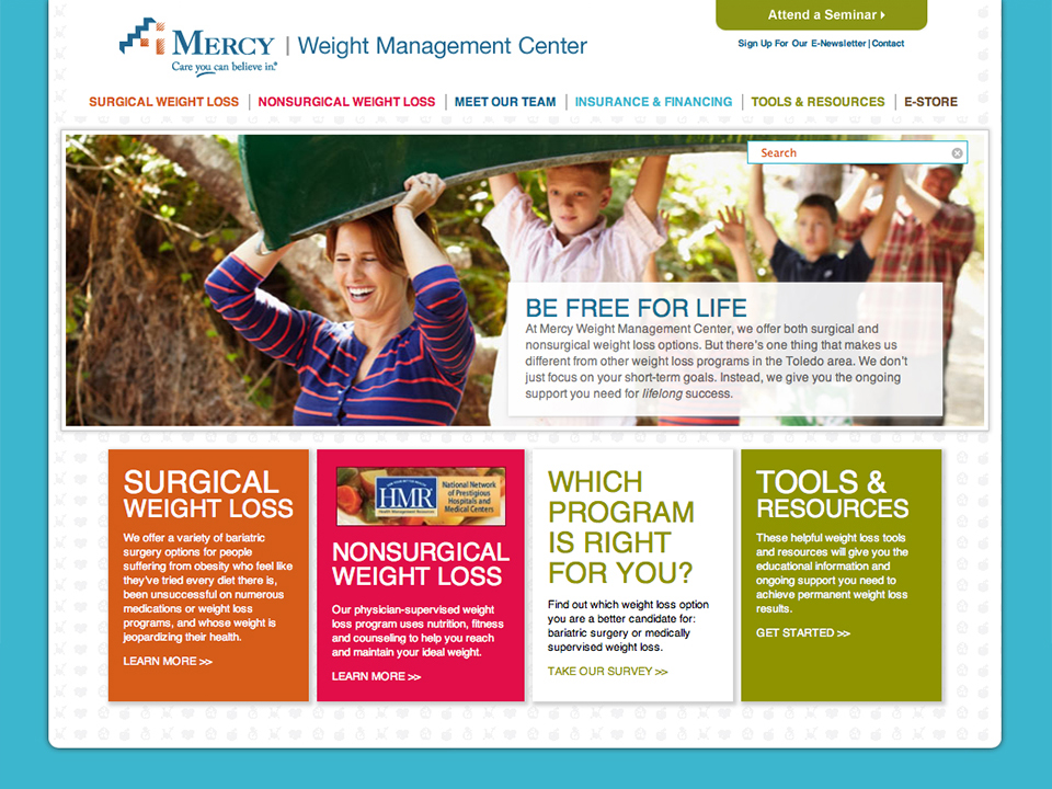Mercy Weight Management Website
