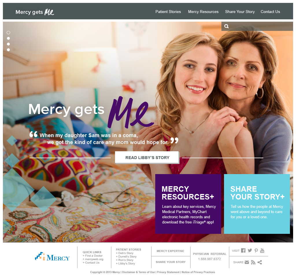 Mercy Gets Me Website | Homepage – Libby