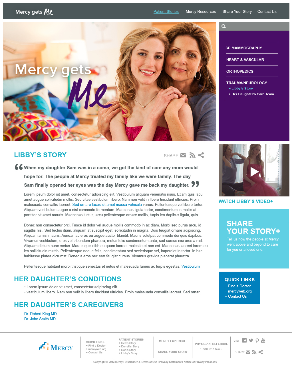 Mercy Gets Me Website | Patient Story –Libby