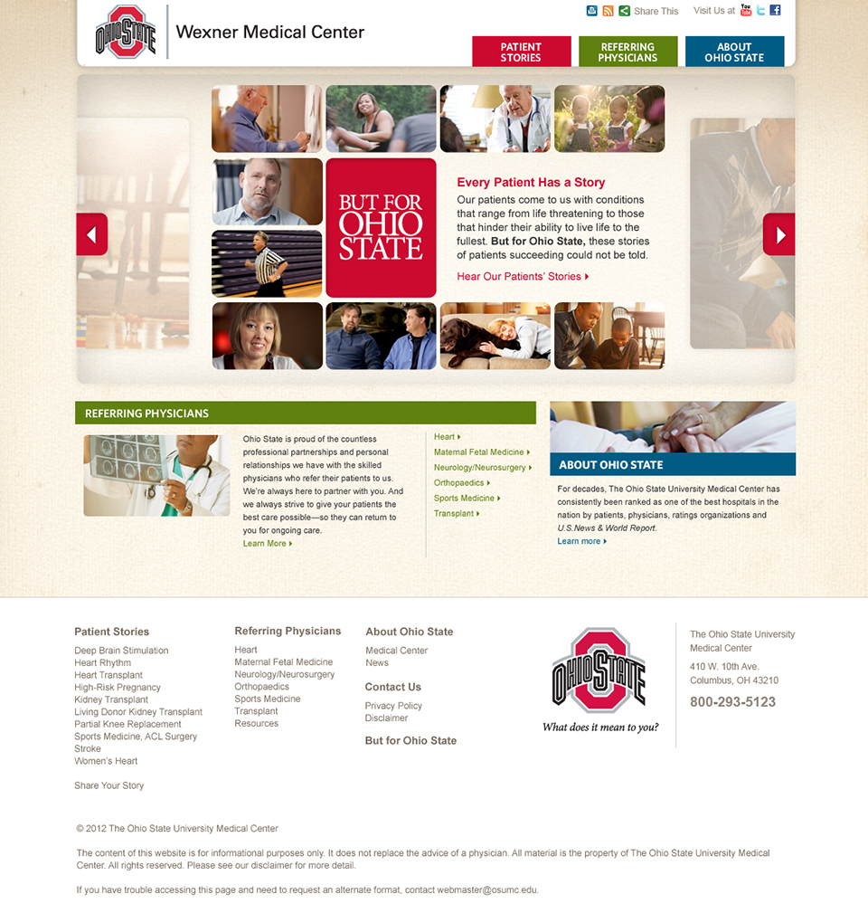 Only Ohio State | Website Homepage