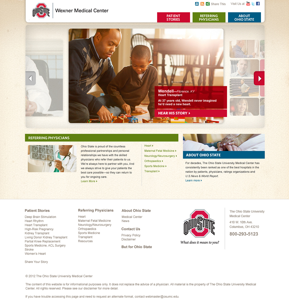 Only Ohio State | Website Homepage – Wendell