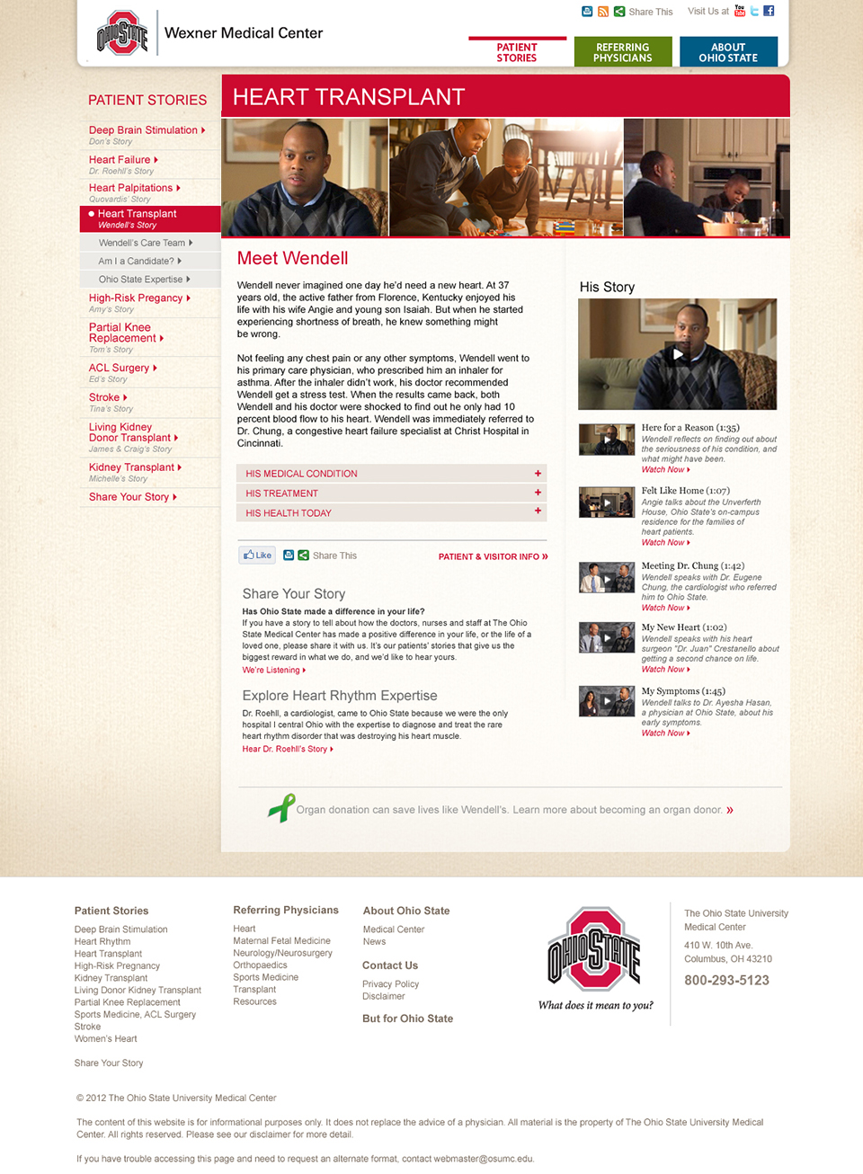 Only Ohio State | Website – Meet Wendell