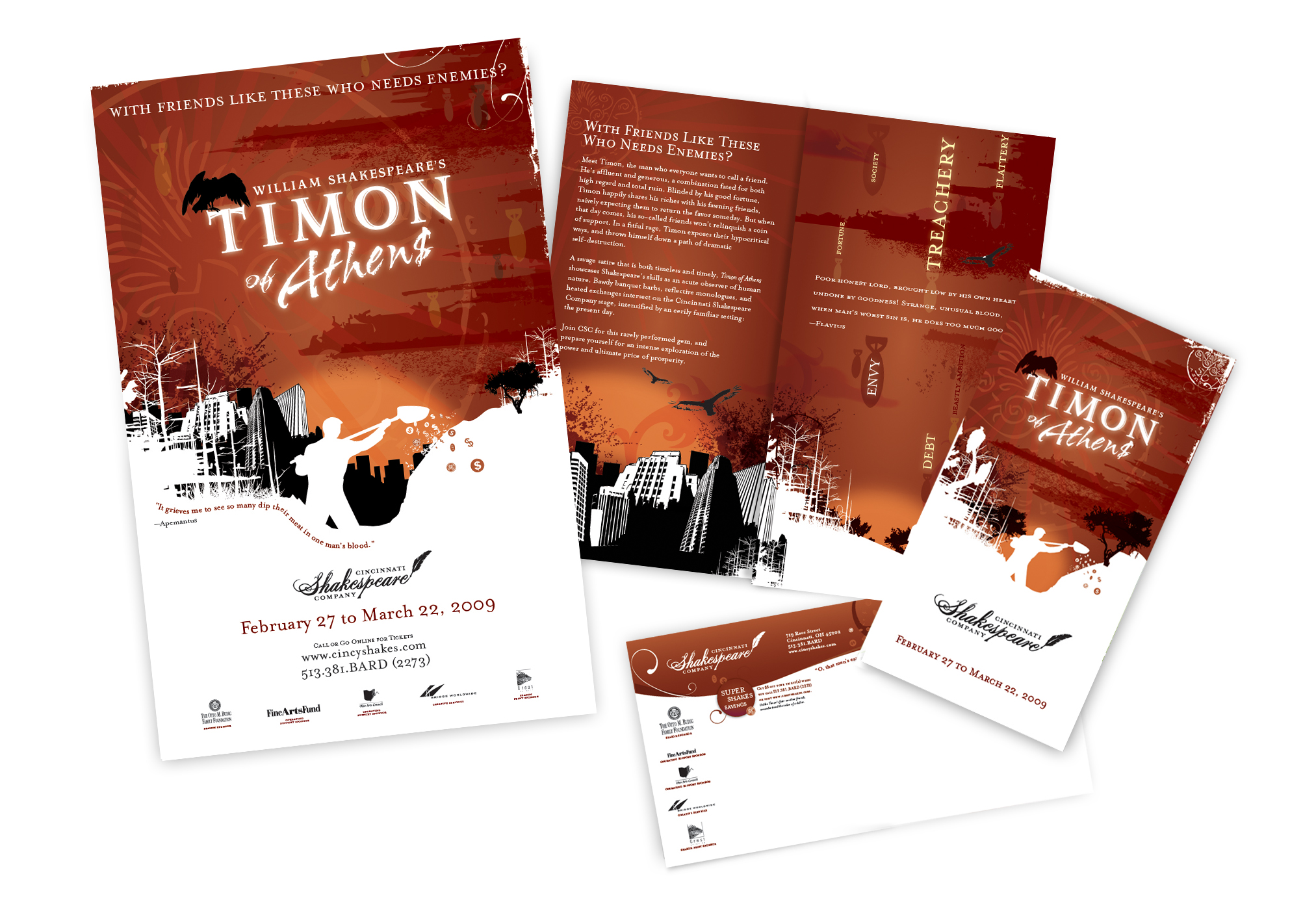 Timon of Athens | Poster & Direct Mail