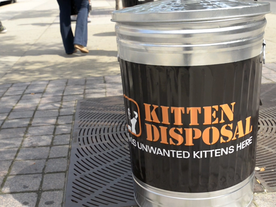 Kitty Trash Cans